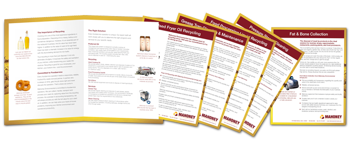 Mahoney sales materials