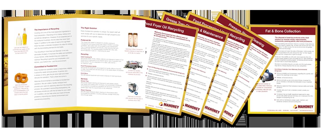 Mahoney sales materials