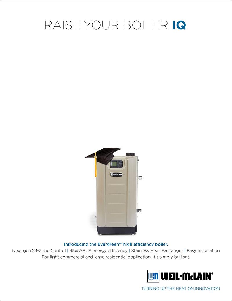Weil McLain Evergreen print ad