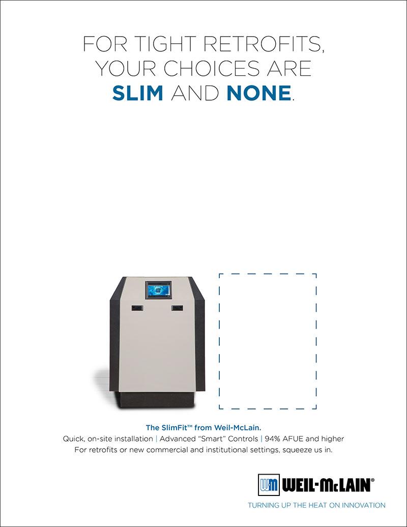 Weil-McLain SlimFit print ad