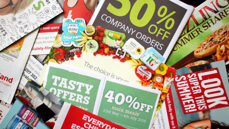 Examples of low-impact direct mail ads
