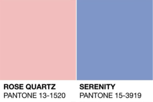 Pantone Colors of the Year - Rose Quartz & Serenity