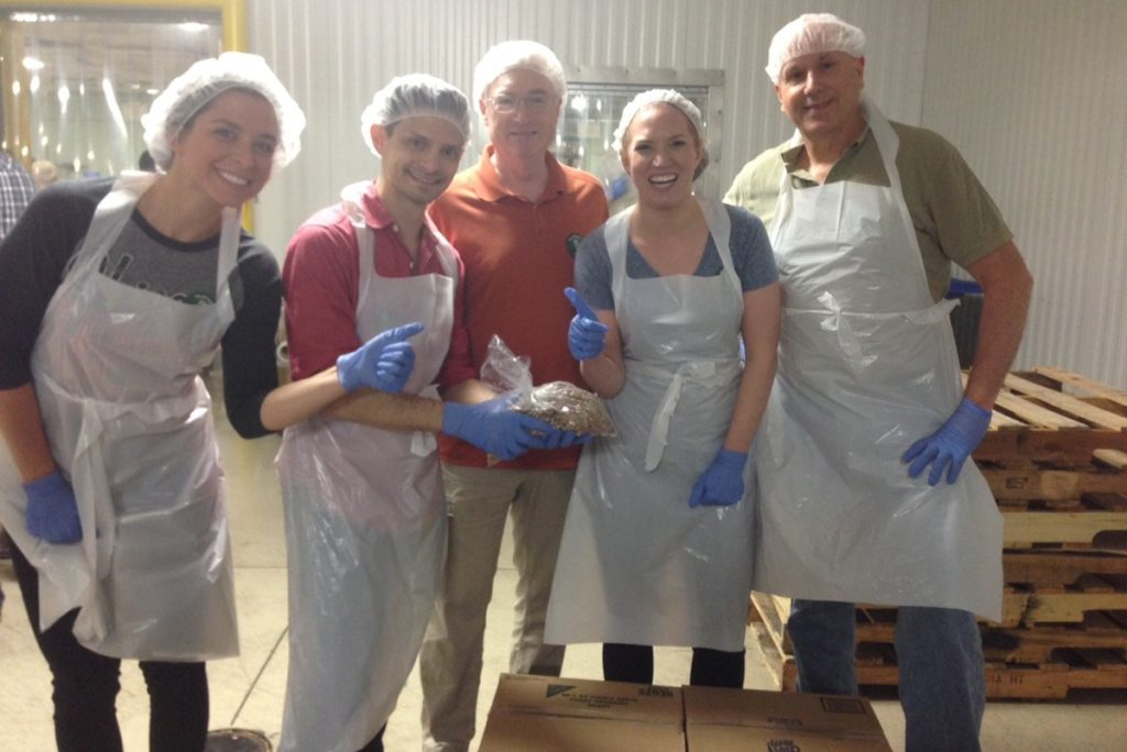 The M+ team spends Fun Food Friday at the Chicago Food Depository.