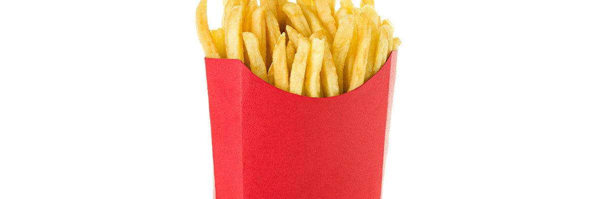 McDonald's fries sans logo