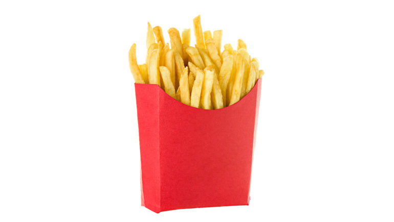 McDonald's fries sans logo